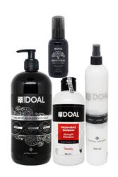 Doal - Doal Güçlendirici Şampuan 400 ml + Keratin Bakım Sütü 1000 ml + Macadamia & Argan Elixir Serum 100 ml + Keratin Milk Sprey 500 ml