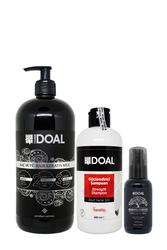 Doal - Doal Güçlendirici Şampuan 400 ml + Keratin Bakım Sütü 1000 ml + Macadamia & Argan Elixir Serum 100 ml