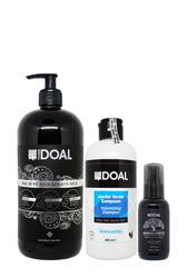 Doal - Doal Hacim Veren Şampuan 400 ml + Keratin Bakım Sütü 1000 ml + Macadamia & Argan Elixir Serum 100 ml
