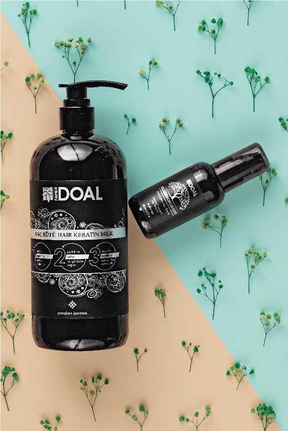 Doal Keratin Bakım Sütü Siyah 1000 ml + Macadamia & Argan Elixir Saç Bakım Serumu 100 ml