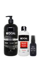 Doal - Doal Yoğun Onarıcı Şampuan 400 ml + Keratin Bakım Sütü 1000 ml + Macadamia & Argan Elixir Serum 100 ml